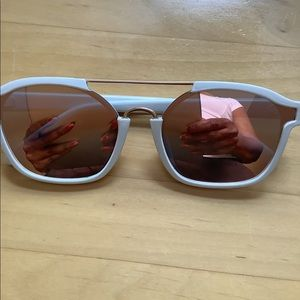 White Frame Sunnies with Mirror Lenses